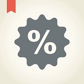 Price Tag with SALE sign icon, vector illustration.