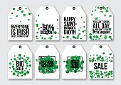 Price sale tags set for the St. Patrick's Day.