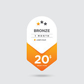 Pricing Package, Bronze Package stock illustration