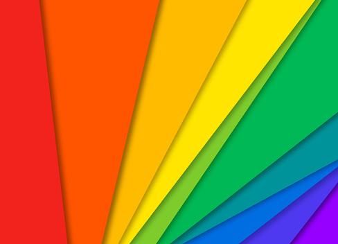 Pride Abstract Rainbow Colorful Paper Background
