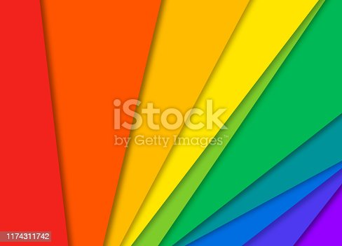 Gay pride flowing angled abstract gradient background with copy space.