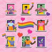 istock LGBTQ Pride at home 1251103443