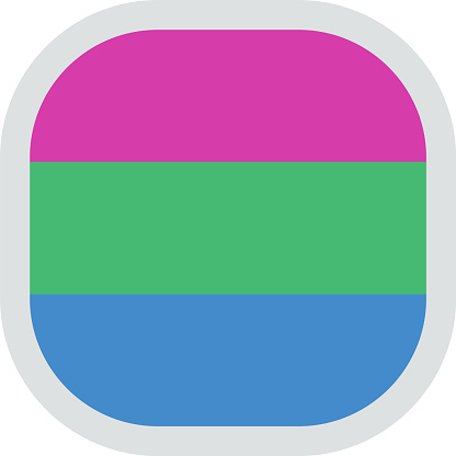 LGBT pride flag, rounded square shape icon