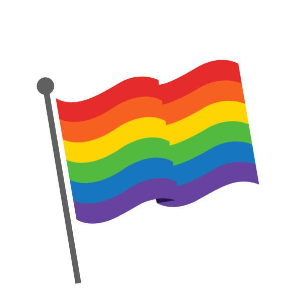 ilustrações, clipart, desenhos animados e ícones de bandeira do orgulho, vetor da ilustração da bandeira do arco-íris - lgbt