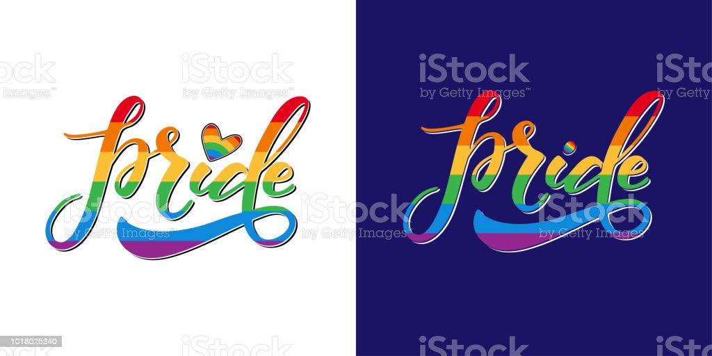 Letras gay orgullo - ilustración de arte vectorial