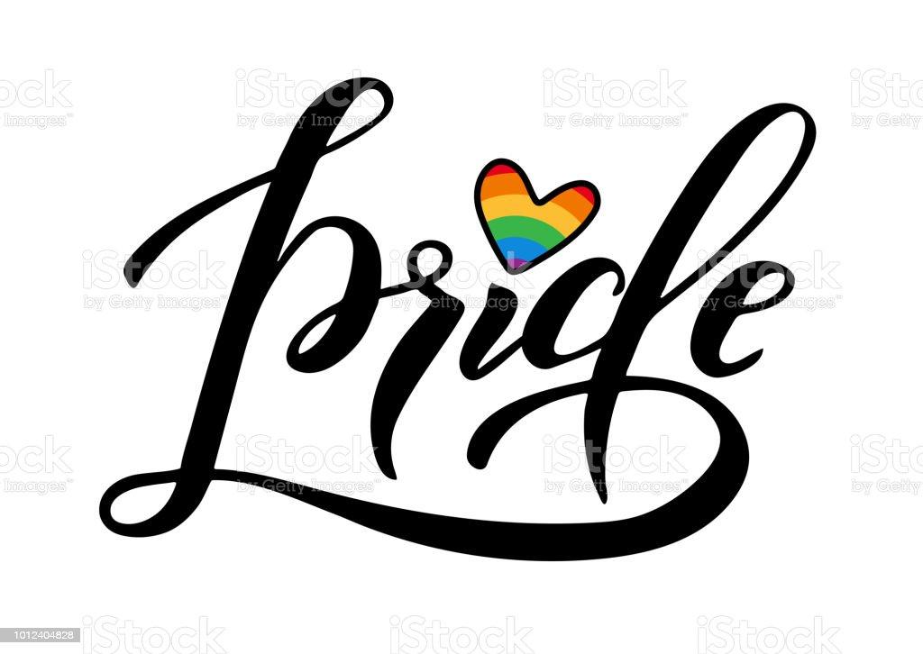 lema gay orgullo - ilustración de arte vectorial