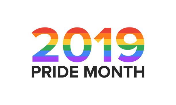 LGBT Pride Month 2019 in June. Lesbian Gay Bisexual Transgender. Celebrated annual. LGBT flag. Rainbow love concept. Human rights and tolerance. Poster, card, banner and background. Vector ilustration vector art illustration