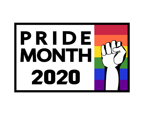 LGBT Pride Month 2020 concept. Template for banner design, card, poster, cover, t-shirt, sticker.