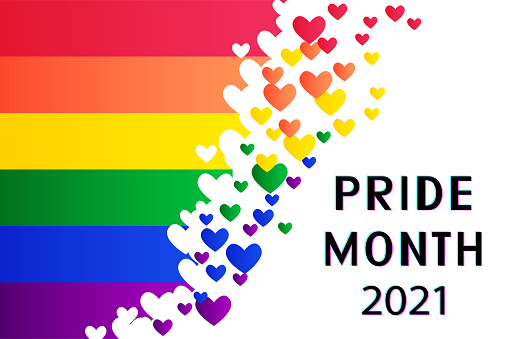 LGBTQ Pride Month 2021 vector concept.