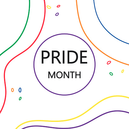 Pride month abstract banner