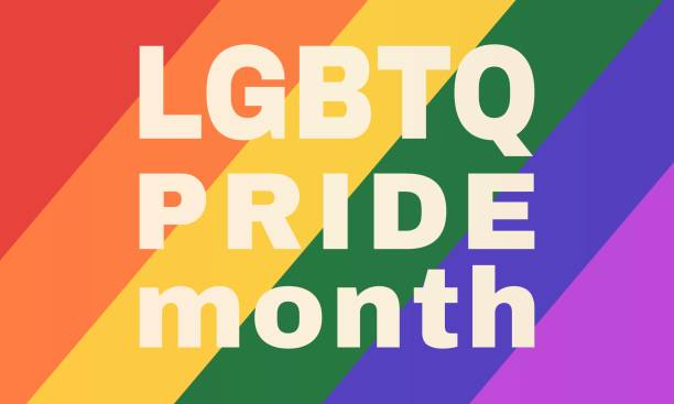 LGBTQ pride month background -  LGBTQ flag. Poster, card, banner vector art illustration