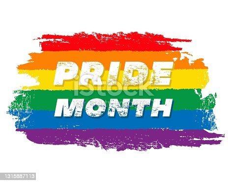 istock Pride month fest 2021 symbol card with minority flag.Banner Love is love.Rainbow Pride symbol with heart,LGBT,sexual minorities,gays and lesbians.Designer sign,symbol,icon:colorful rainbow in background.Vector 1315887113