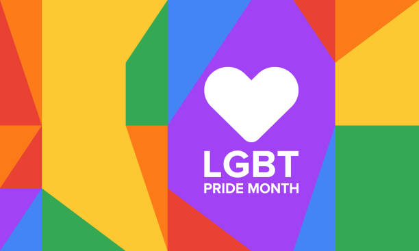 LGBT Pride Month in June. Lesbian Gay Bisexual Transgender. Celebrated annual. LGBT flag. Rainbow love concept. Human rights and tolerance. Poster, card, banner and background. Vector ilustration LGBT Pride Month in June. Lesbian Gay Bisexual Transgender. Celebrated annual. LGBT flag. Rainbow love concept. Human rights and tolerance. Poster, card, banner and background. Vector ilustration pride stock illustrations