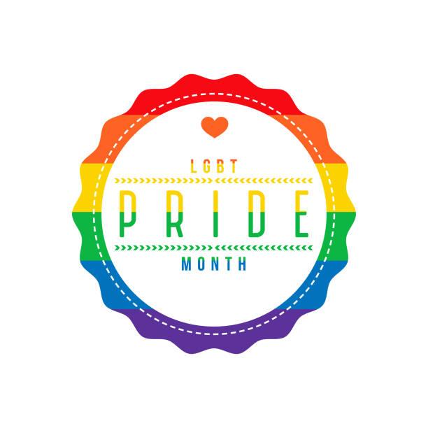 LGBT Pride Month Label vector art illustration