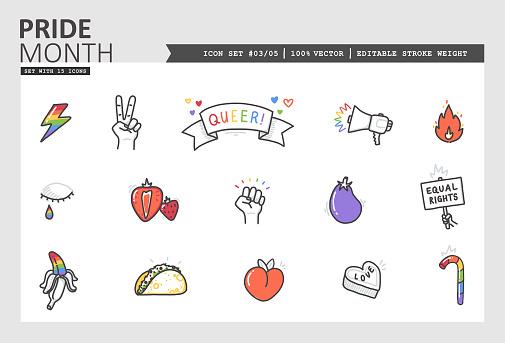 Pride Month Vector Icon Set #03/05