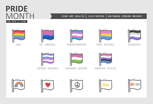 Pride Month Vector Icon Set #04/05