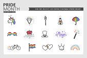 Pride Month Vector Icon Set #02/05