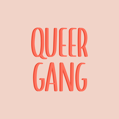 LGBTQ pride print with lovely typography. Vector hand drawn lettering.