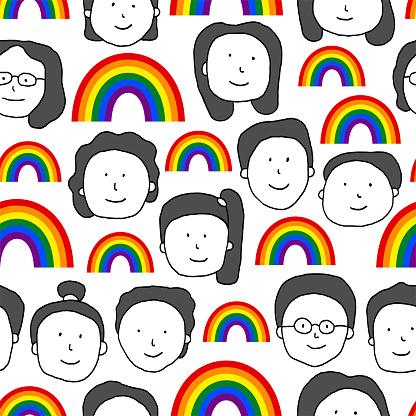 LGBT pride seamless pattern