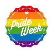 Pride Week Rainbow Button