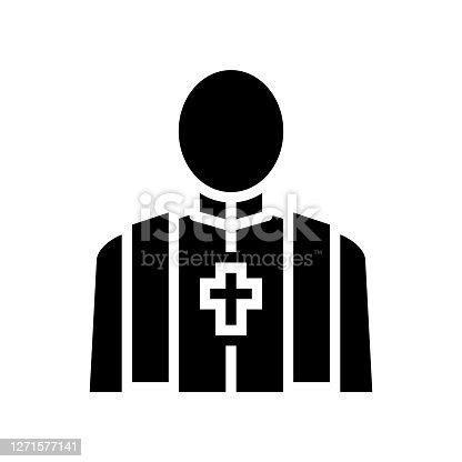 istock priest pastor glyph icon vector isolated illustration 1271577141
