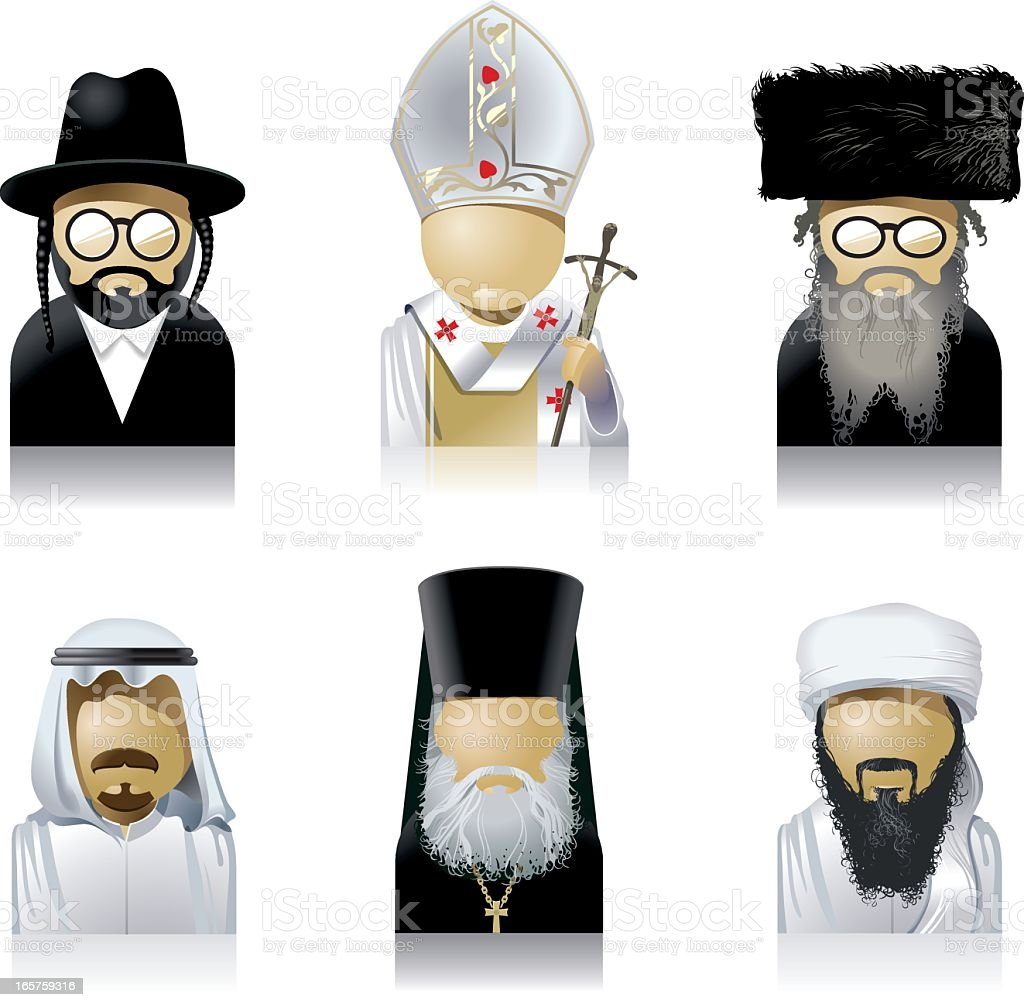 Priests of the World royalty-free stock vector art