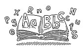 Primary School Learning Book Letters Drawing