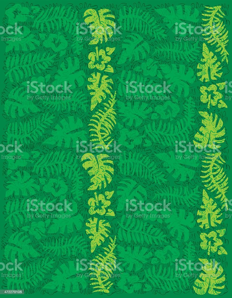 Primitive Jungle Mix Pattern royalty-free stock vector art