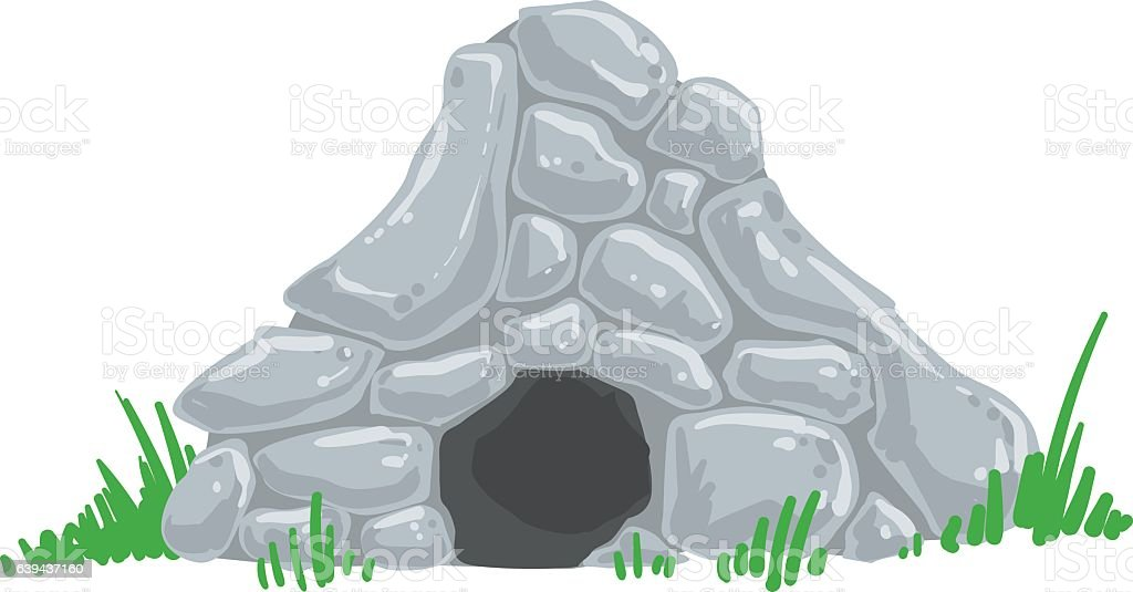 royalty free caveman living in the cave clip art vector images rh istockphoto com cave clipart black and white cave clip artr