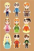 Prince and princess characters