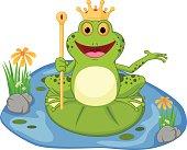 prince frog cartoon presenting
