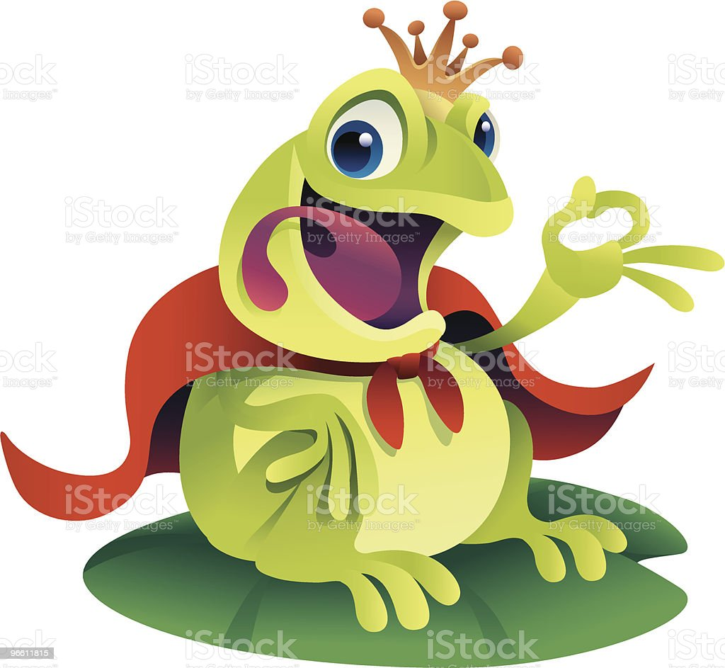 prince frog - Royalty-free Agreement stock vector