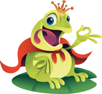 Prince Frog-vektorgrafik och fler bilder på Amfibie