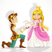 Prince was on his knees asking the princess marriage