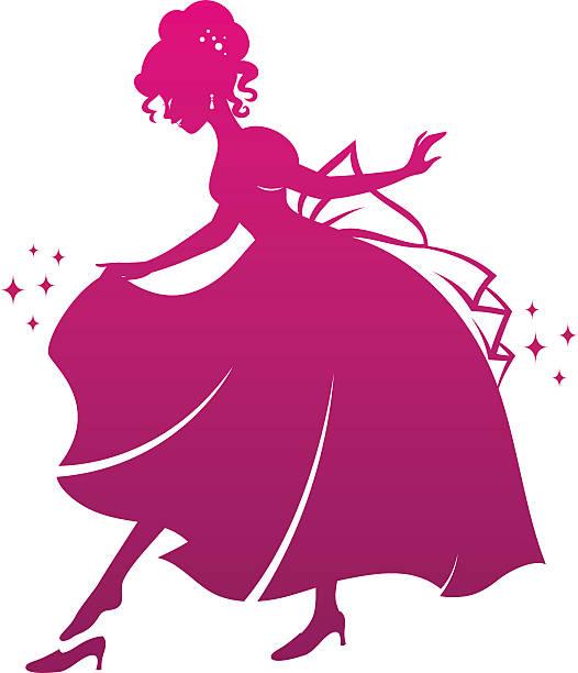 illustrazioni stock, clip art, cartoni animati e icone di tendenza di principessa e la sua scarpa, - principessa