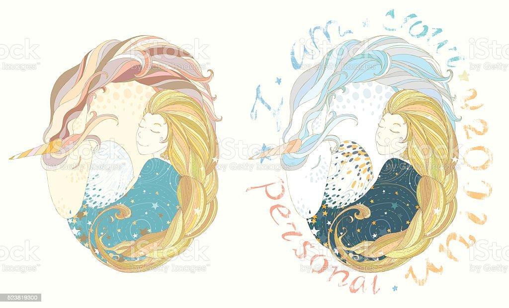 Ilustración de Princesa Y El Unicornio Para Circular Marco y más ...