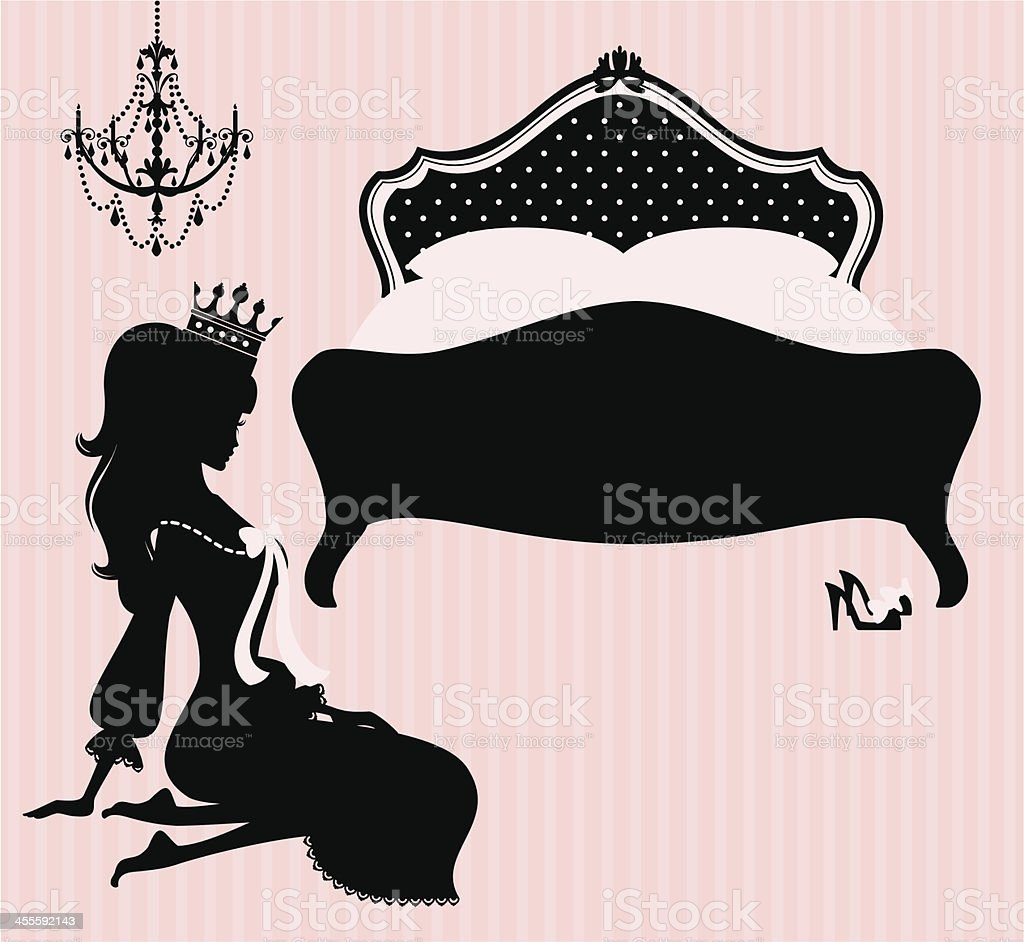 Princess Bedtime royalty-free stock vector art