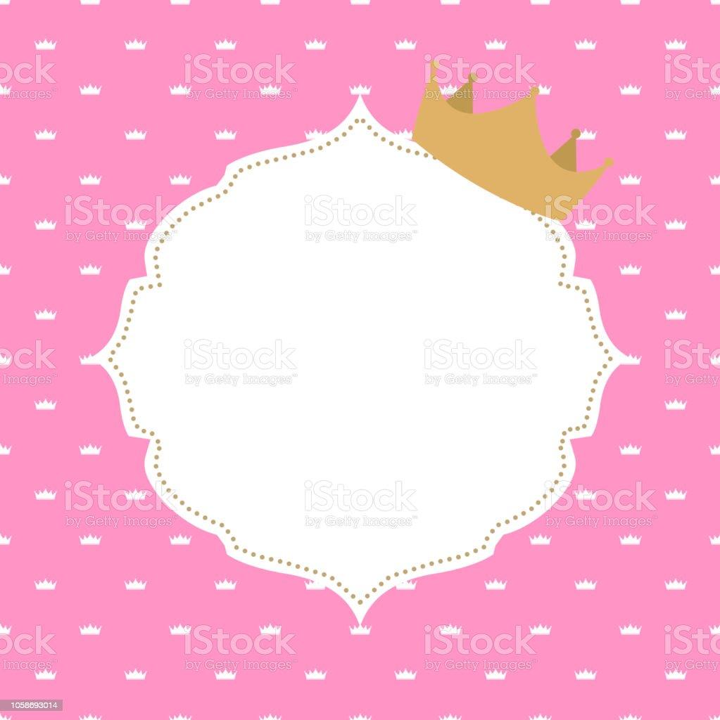 Prenses Tacı Arka Plan Vektör çizim Stok Vektör Sanatı Arka