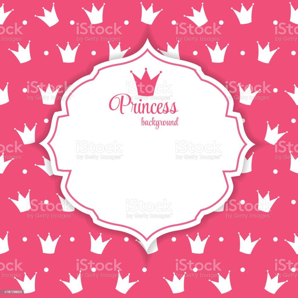 princesa coroa fundo ilustração vetorial arte vetorial de stock e