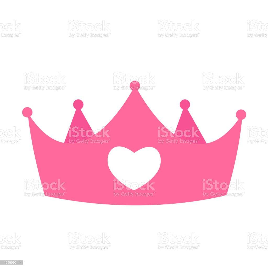 Prenses Tacı Simgesi Vektör çizim Stok Vektör Sanatı Arka Planlar