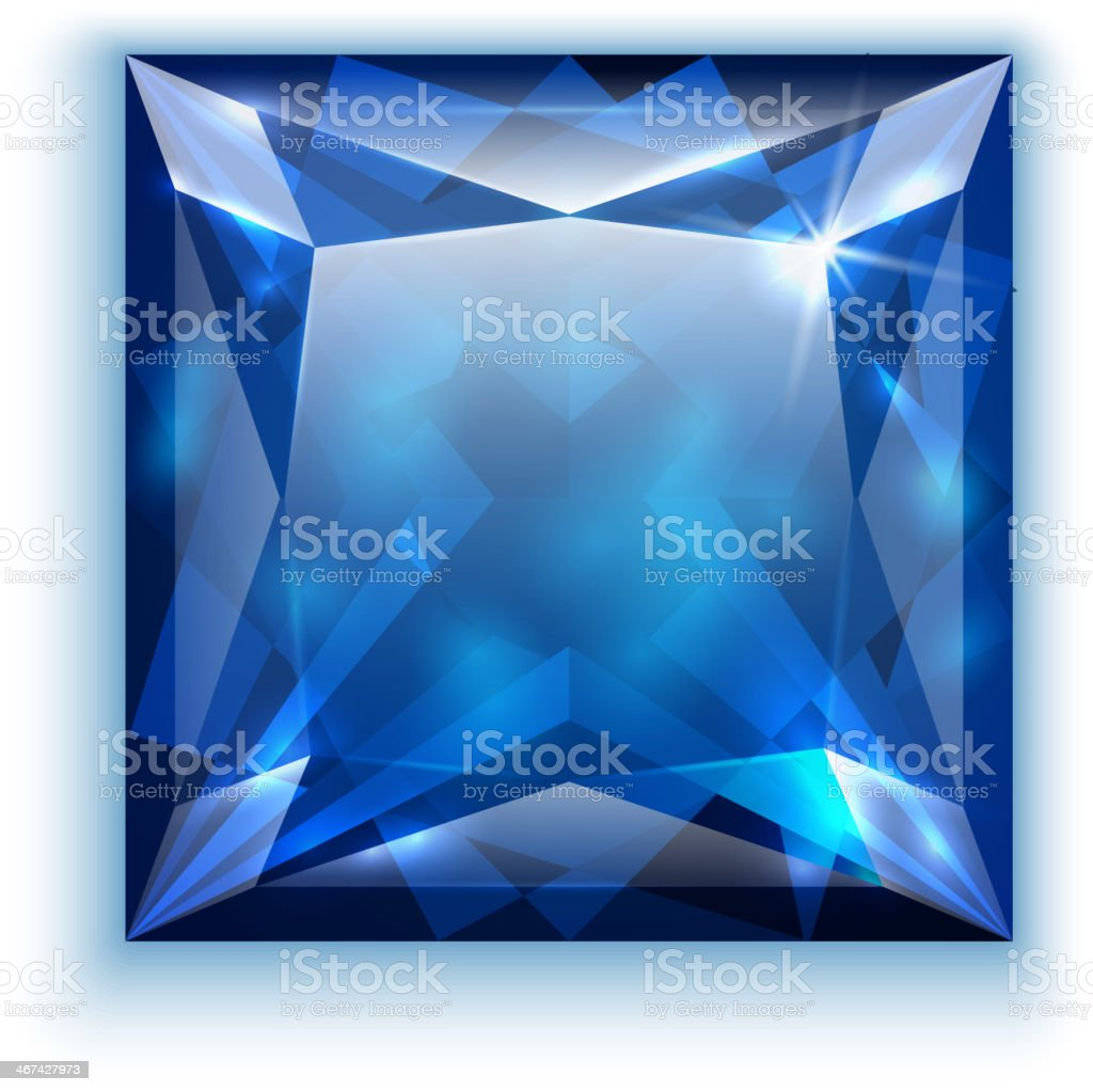 Princess cut sapphire illustration royalty-free princess cut sapphire illustration stock vector art & more images of artificial