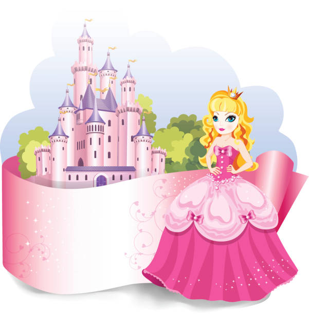 stockillustraties, clipart, cartoons en iconen met princess design element. - turret arch