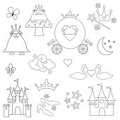 princess digital stamps