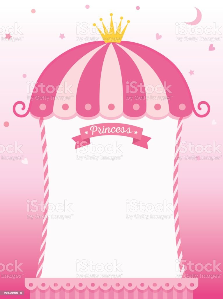 Princess Frame Stock Vector Art & More Images of Arts Culture and ...