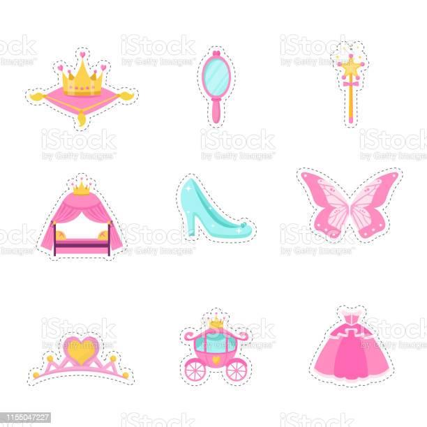 Princess items vector illustrations set vector id1155047227?b=1&k=6&m=1155047227&s=612x612&h=9e4deihxsvbw59ed2jayklprqsa3yr5y2afenhfay9s=