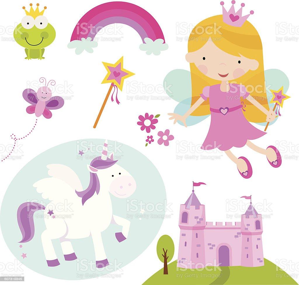 Princess Kingdom vector art illustration