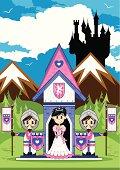 Princess & Knights at Castle Guard Post Scene