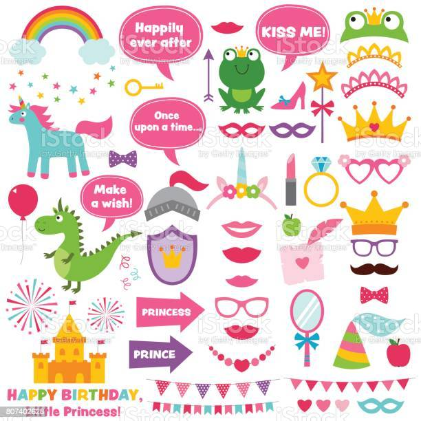 Princess party photo booth props set vector id807402628?b=1&k=6&m=807402628&s=612x612&h=vm1oszowcrnxq9xiqfc6 jrrgycea1fpcyiihwkhhrs=