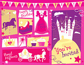 Princess party themed design set