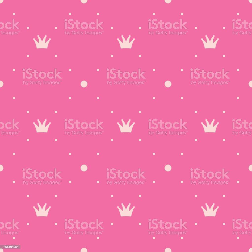 Princess pink background vector art illustration